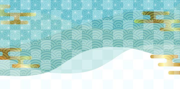 水彩 波 海 背景