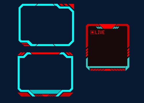 collection of modern frame stream neon panels