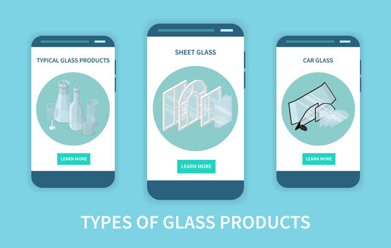 Glass Products Types Banners