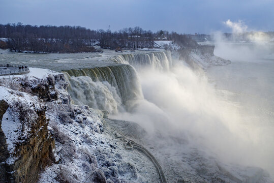 View of Niagara Falls during the winter, USA