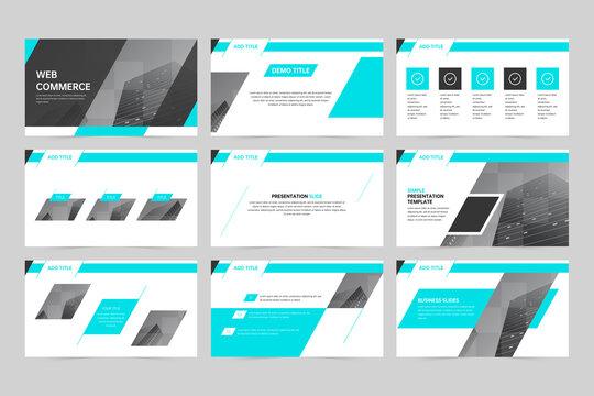 Blue geometric business promotion presentation slides