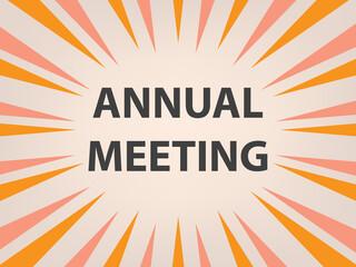 Obraz annual meeting concept - vector illustration - fototapety do salonu