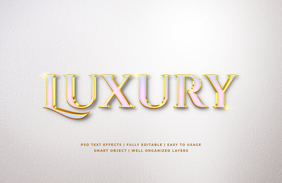 White Gold Luxury 3d Text Style Effect