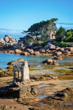 Beach of Ploumanach in Perros-Guirec, Côtes d'Armor, Brittany, France