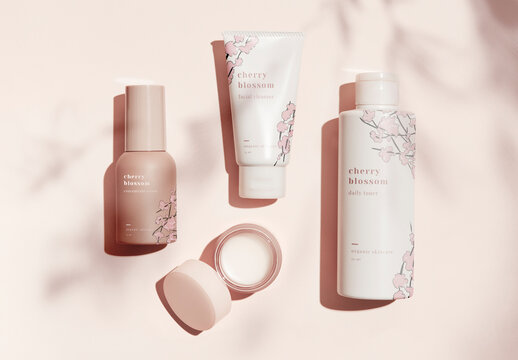 Beauty Products Mockup Design Set