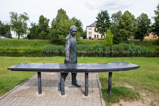 """Sculpture """"Chess player"""" in Panevezys, Lithuania"""