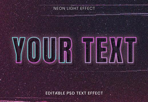 Neon Text Effect Design