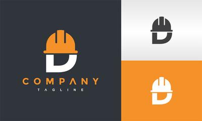 Fototapeta initials D cap construction logo obraz