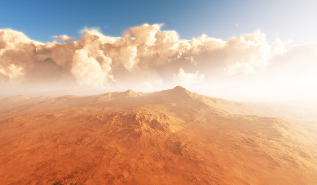 Massive dust storm sweeping across surface of Mars