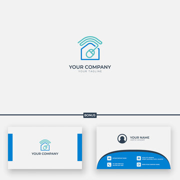online learning home logo work from home online study