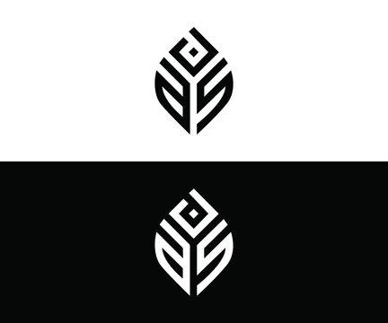 ASD letter logo design with black background in illustrator, cube logo, vector logo, modern alphabet font overlap style. calligraphy designs for logo, Poster, Invitation, etc