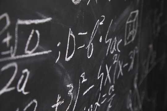math formulas on a blackboard