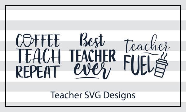 Best Teacher Ever - Hand Lettered SVG! SVG teachers Cut file