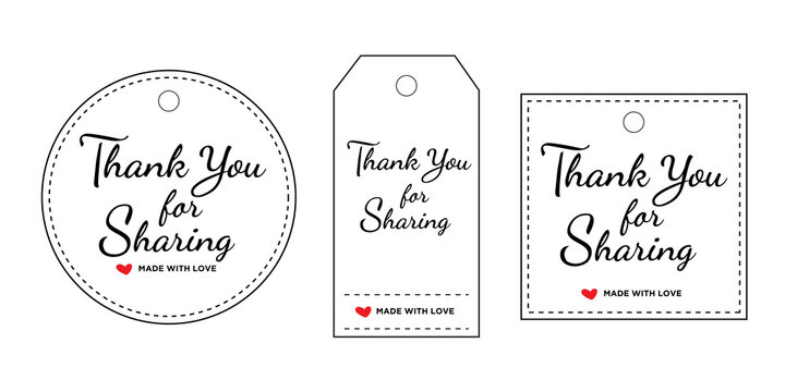set of labels thank you for sharing