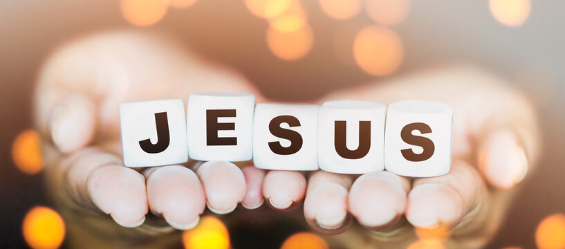 Evangelism, Gospel, church.Jesus word for easter.Crucifixion Of Jesus Christ.Jesus with Cross concept for faith religion, christian worship, Easter, bible story word.Corpus Christi.good friday.