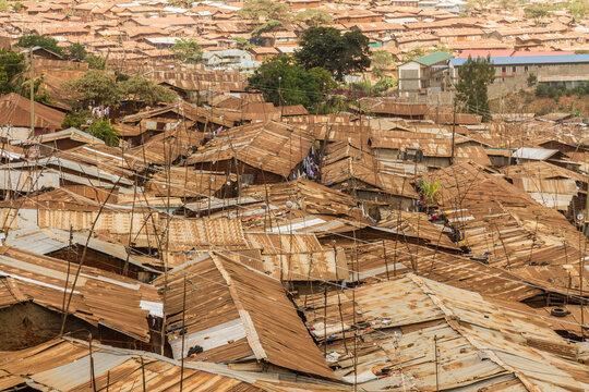 Kibera Slum Roof tops Horizon