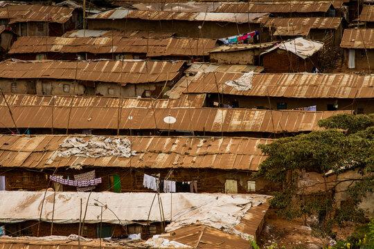 Slum roof close up