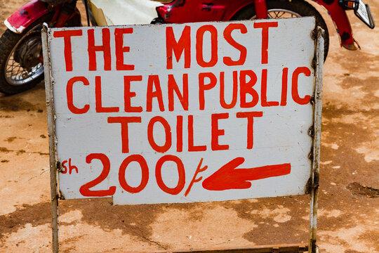 The Most Clean Public Toilet Sign