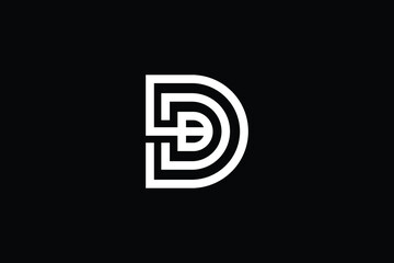 Obraz DB logo letter design on luxury background. BD logo monogram initials letter concept. DB icon logo design. BD elegant and Professional letter icon design on black background. B D DB BD - fototapety do salonu