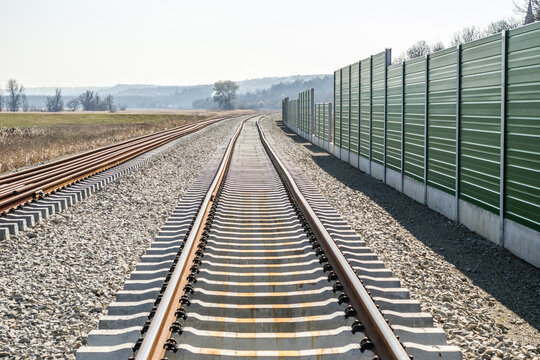 A new railway has been installed in Petrovaradin. Vojvodina, Novi Sad, Serbia.