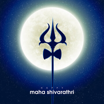 Indian Hindu festival of maha Shivratri background.