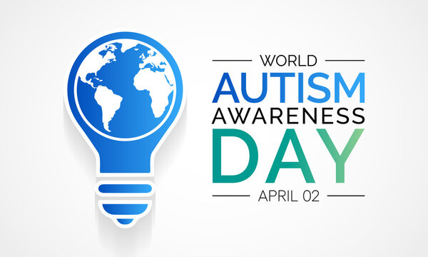 Vector illustration on the theme of World Autism awareness day observed each year on April 2nd across the globe.