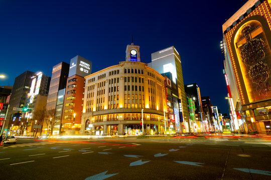 東京 銀座 夜景 2021年3月