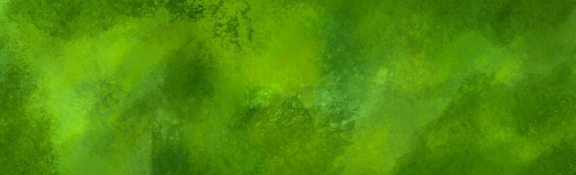 Abstract background green texture banner, brush paint painting