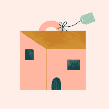 House with the shape of a suitcase or luggage