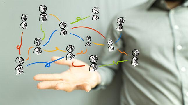 organization chart team concept networking