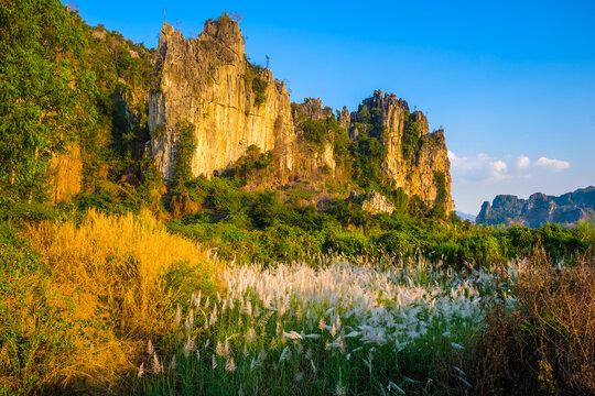 Limestone Mountain View at Noen Maprang, Thailand