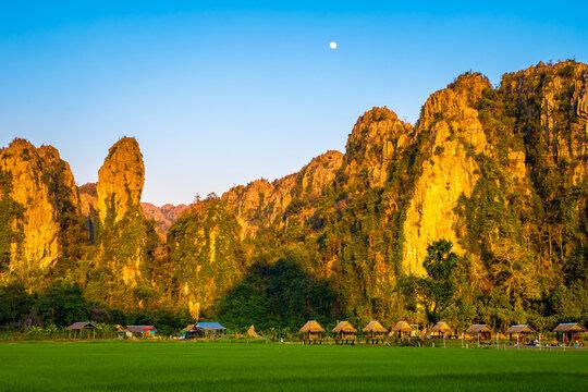 Travel Scenic at Noen Maprang distrcit, Thailand