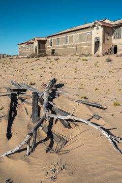 Kolmanskop ruins in desert