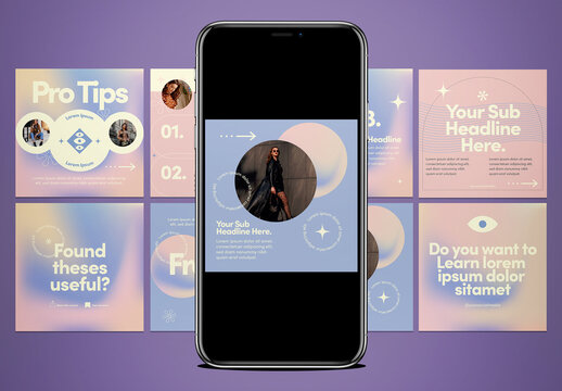 Carousel Gradient Layouts for Instagram