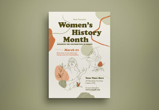 Women's History Month Flyer Layout
