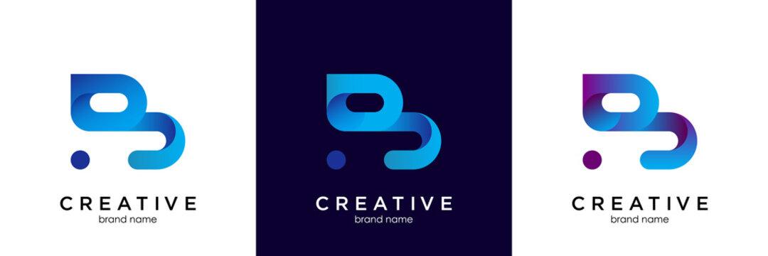 B Logo Blue. B Letter Icon Design Vector