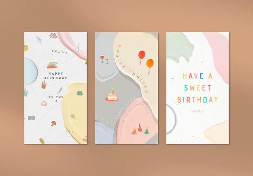 Happy Birthday Social Media Template Design
