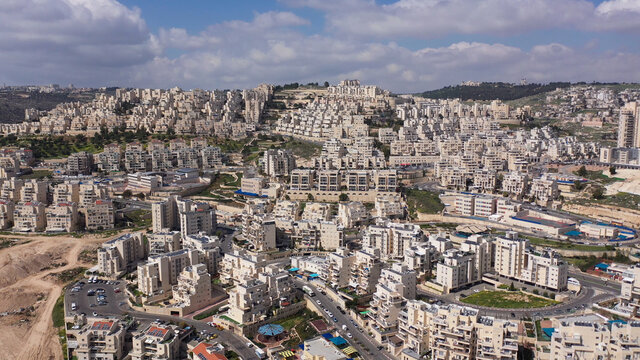 Aerial view over Israeli settlement Har Homa Drone view over Har Homa Also called Homat Shmuel Close to Bethlehem