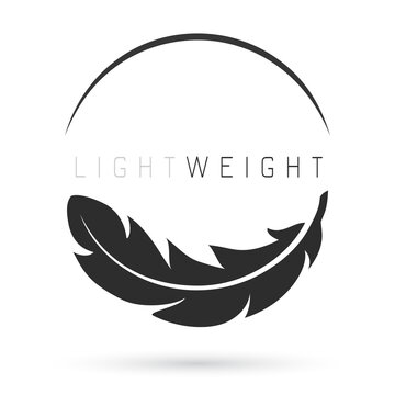 Light weight feather icon