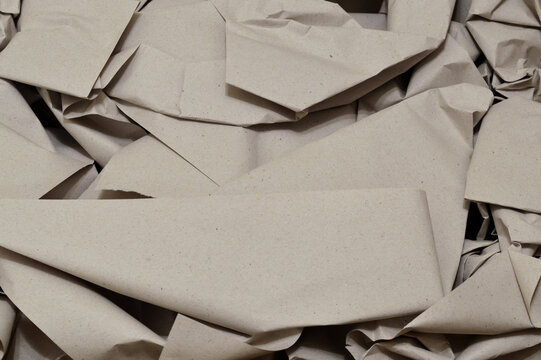 Crumpled packaging paper.