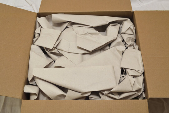 Packaging paper in box.