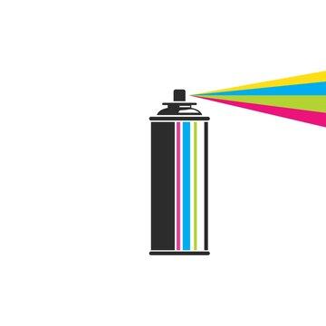 paint spray bottle icon vector illustration design template
