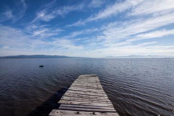 十三湖の古い桟橋