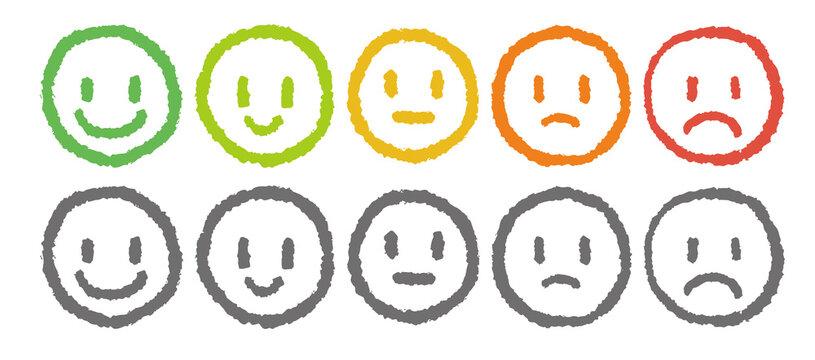 クレヨンで描いた表情 評価 感情