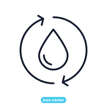 save the water. water purification icon. ecology Environmental sustainability. Eco friendly symbol template for graphic and web design collection logo vector illustration