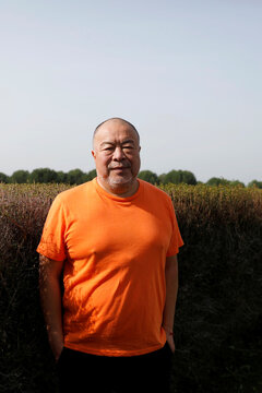 Chinese dissident artist Ai Weiwei poses in Montemor-O-Novo