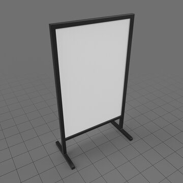 Advertising display stand mockup 3