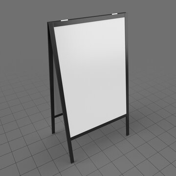 Advertising street stand mockup 1
