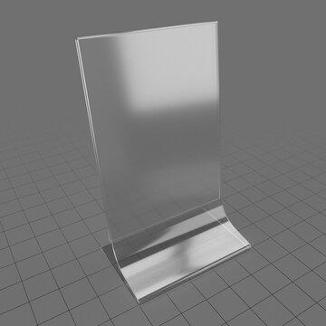 Acrylic table talker mockup 2