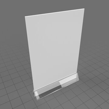 Acrylic table talker mockup 1